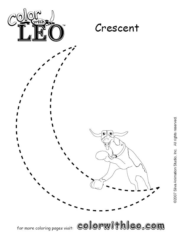 printable cresent shapes coloring pages - photo#29