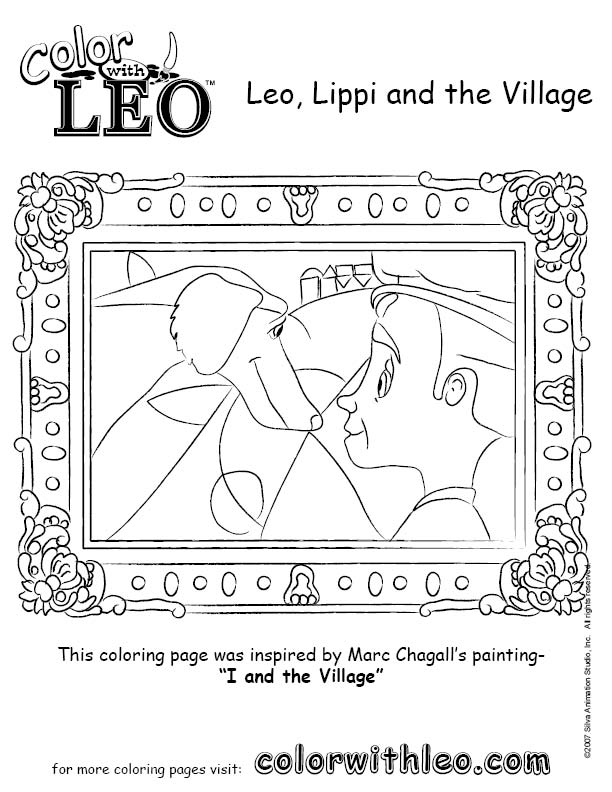 art coloring pages for kids to print color monet painting