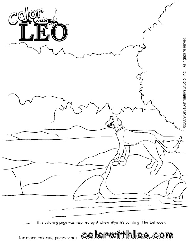 Art coloring pages to print of