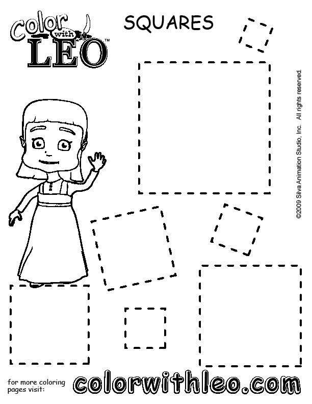 coloring pages for square shape - photo#8