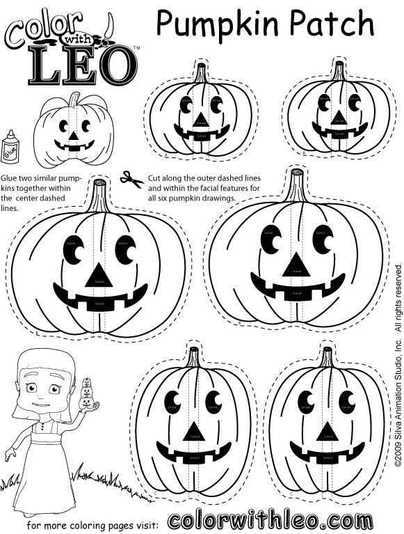 pumpkin patch coloring pages free - photo#27