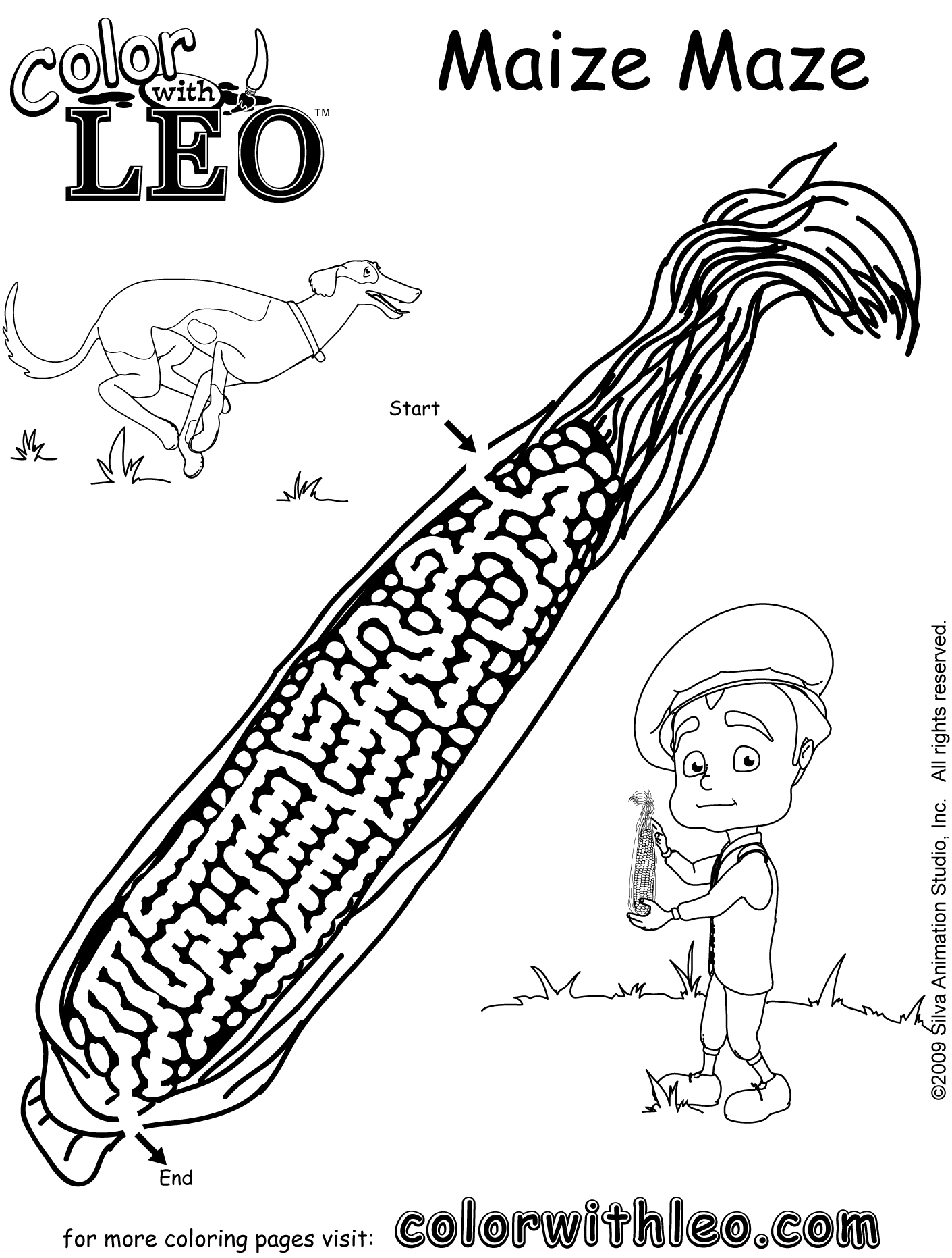Print free seasonal coloring pages of puzzles and games
