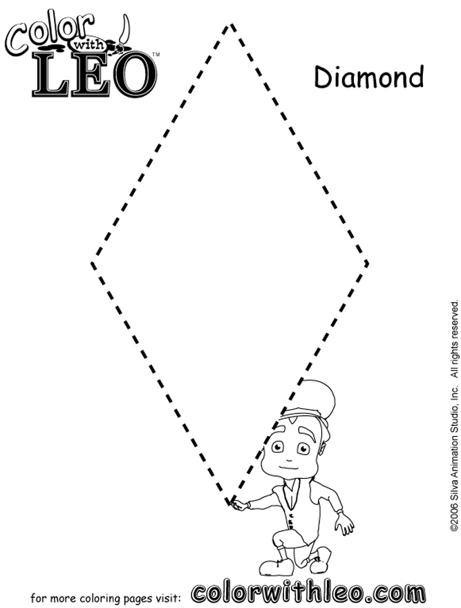 pdf coloring page for kids diamond jpg