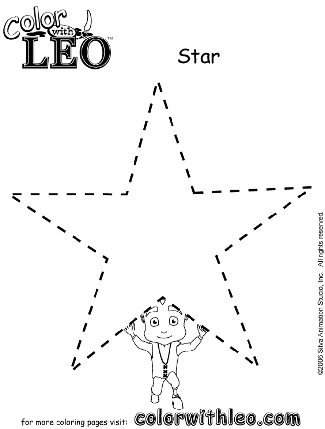 Print free coloring pages of shapes for kids.